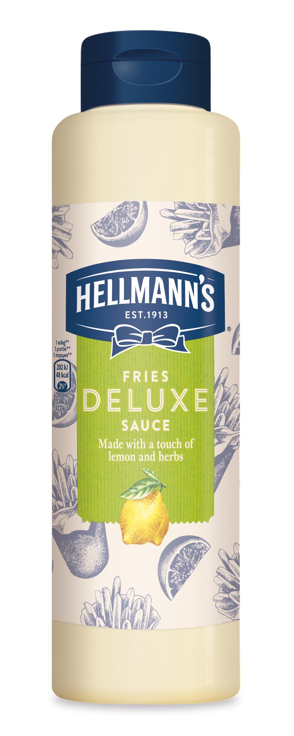 Hellmann's Fries Deluxe preliv z limono in zelišči 850 ml - Svojim gostom pokažite kakovost
