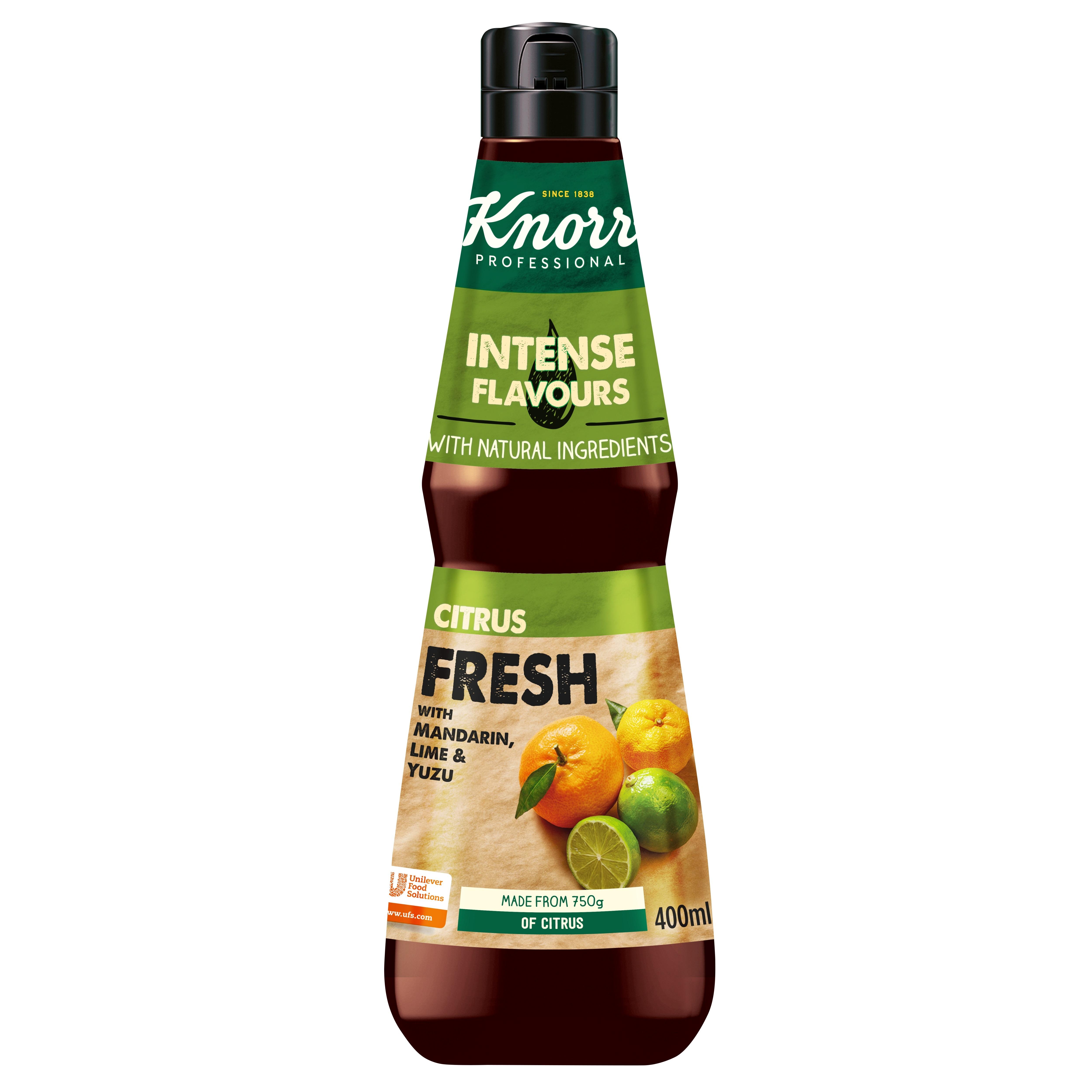 Knorr moč okusa - Citrus Fresh - esenca svežih citrusov 400 ml - V plastenko ujete vznemirljive sestavine za fuzijo okusov.